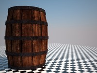 3d low-poly barrel model