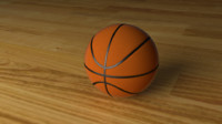 simple basketball 3d model