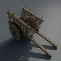 mediaeval cart 3d model