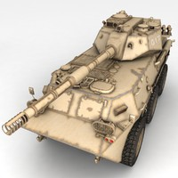 3d model rusty tank destroyer