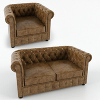 3d model chester chesterfield sofa