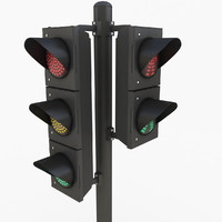 3ds max traffic light