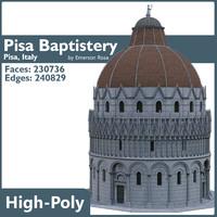 pisa baptistery 3d model