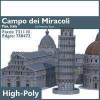 3d model field campo dei miracoli