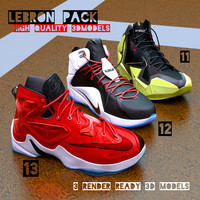 3d lebron basketball shoe pack model