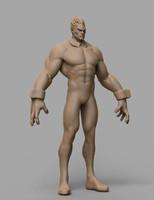heroic character 3d model