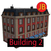3ds max cartoon building