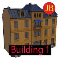 3d cartoon building 1 model