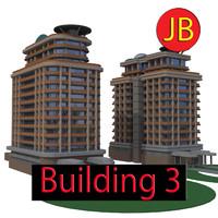 3d cartoon building model