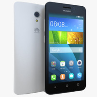 huawei y635 white 3d model
