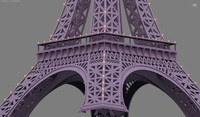 3d max cartoon eiffel tower