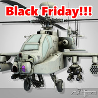 black apache helicopter 3d max