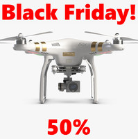 3d quadrocopter dji phantom 3 model