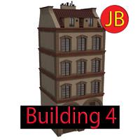 obj cartoon building