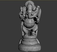 3d statue ganesha model