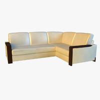 3d leather corner sofa model