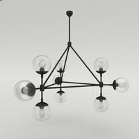 jayson miller 3sided chandelier 3d obj