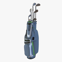 golf bag nike clubs 3d model