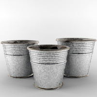 3d model of pot galvanized edolie