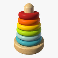 ring stacker 3d model