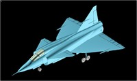 Saab 37 Viggen Aircraft Solid Assembly Model