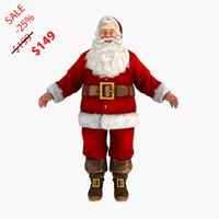 3d model santa claus static