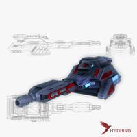 3d model sci-fi cannon