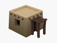3d ancient egyptian house model