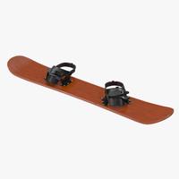 3d model snowboard