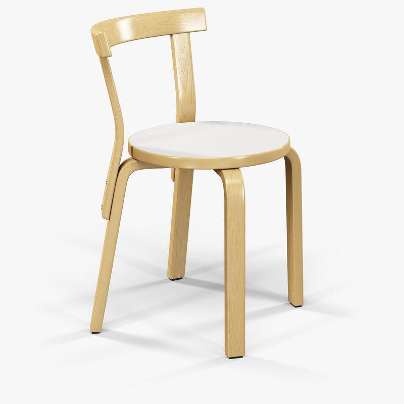 3d model artek 68 chair