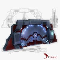 3d sci-fi gate 1 simple