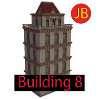 3d cartoon building