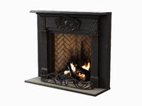 black wood fireplace max