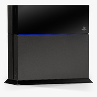 3d sony playstation 4 console model