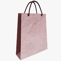 paper bag 3d obj