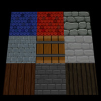 Tileset Fantasy Hand Paint Textures