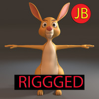 3d model rabbit rigged arnold