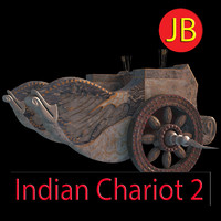 indian chariot 3d model