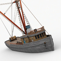fishing boat 3d max