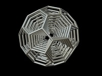 3d model 0009 8-grid truncated icosahedron