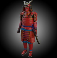 3d model japanese samurai armor