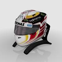3d lewis hamilton 2015 helmet model
