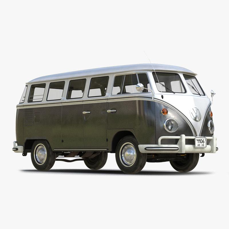 Turbo Microbus: 3ds Max Volkswagen Type 2 Black