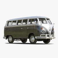 3ds max volkswagen type 2 black