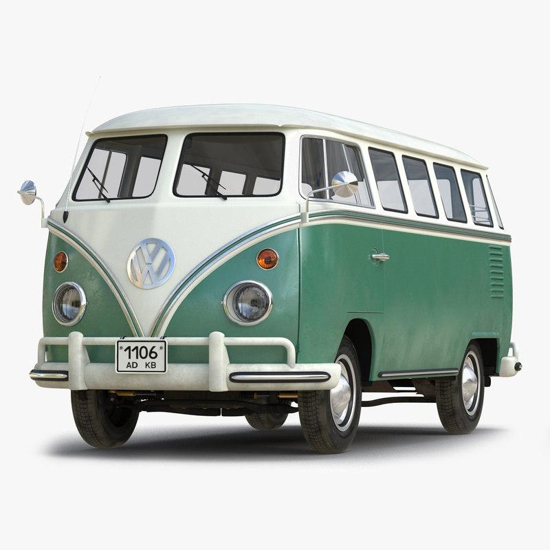Volkswagen Type 2 Green 3d model 01.jpg