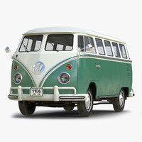 3ds volkswagen type 2 green