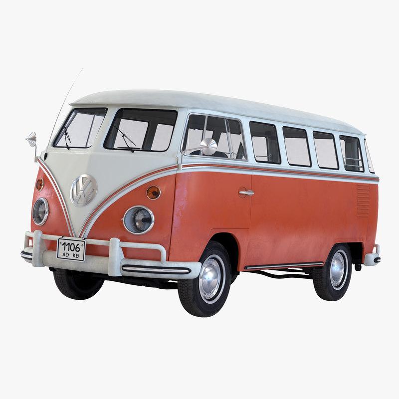 Volkswagen Type 2 Brown Simple Interior 3d model 01.jpg