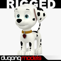 dugm06 rigged cartoon dog 3d model