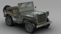 3ds max willys army jeep