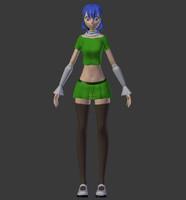 female anime 3d model